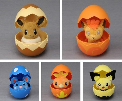 Pokémon,IRL,eggs,plush dolls