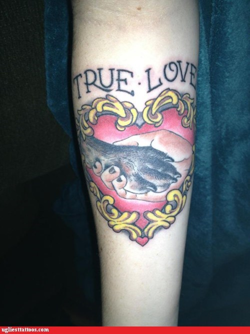 arm tattoos dogs hearts true love - 7295073280