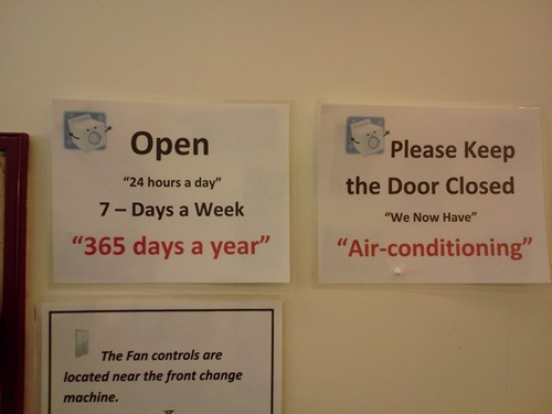 sign,air quotes,air conditioning
