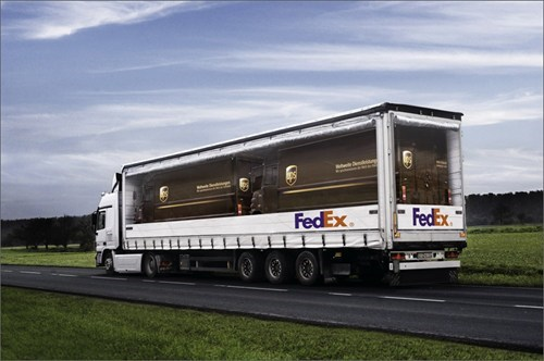 advertising clever fedex truck