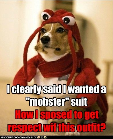 costume,Close Enough,lobster dog