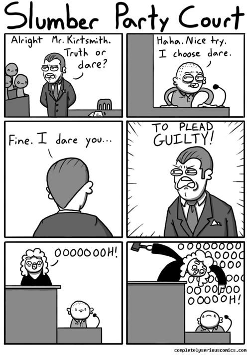 Comics Truth or Dare: Court Version