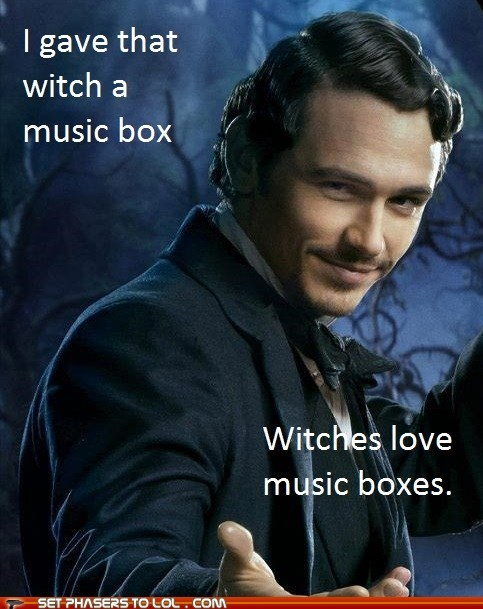 Witches,music box,oz the great and powerful