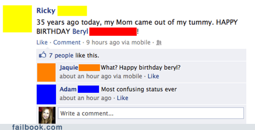 birthday birth mom parenting mother failbook g rated - 7300996352
