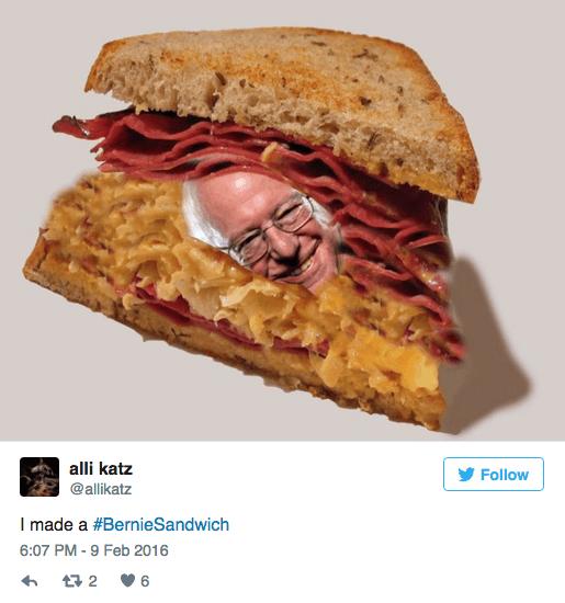 twitter list bernie sanders bernie sandwich politics - 730117