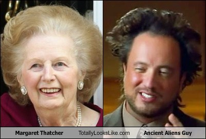 hair ancient aliens guy totally looks like margaret thatcher