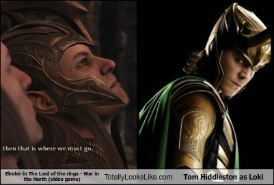 Elrohir in The Lord of the rings - War in the North (video game) Totally Looks Like Tom Hiddleston as Loki