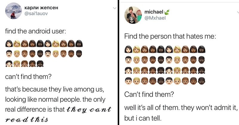 Funny twitter meme 'they live among us'