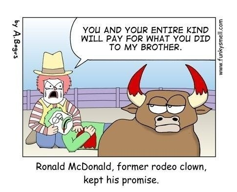 McDonald's comics rodeo