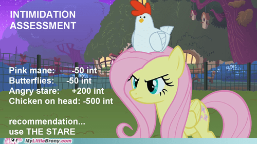 chicken intimidation dnd fluttershy - 7302349824