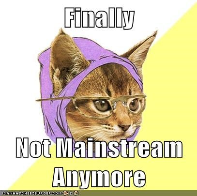 hipster cat,mainstream