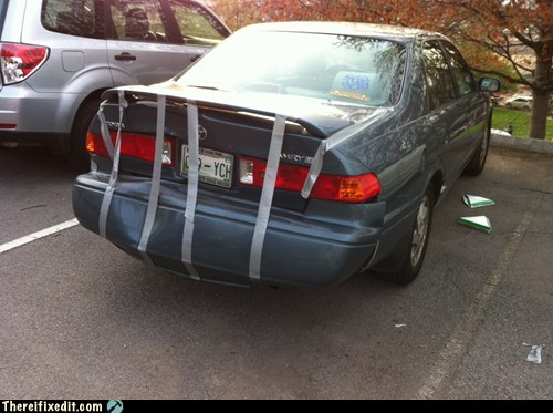car repair trunks duct tape