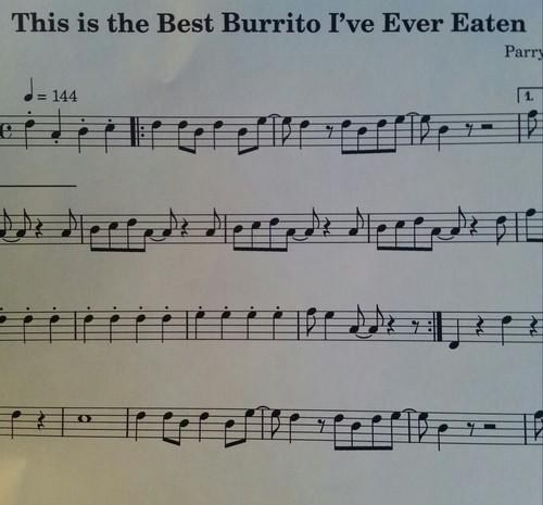 music notation,sheet music,burritos