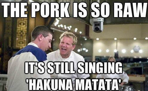 the lion king,gordon ramsay,pork,food