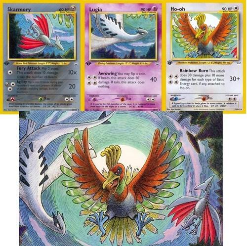 ho-oh,trading card game,art,TCG,lugia,skarmory