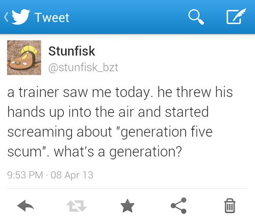 Pokémon twitter stunfisk generations - 7303143168