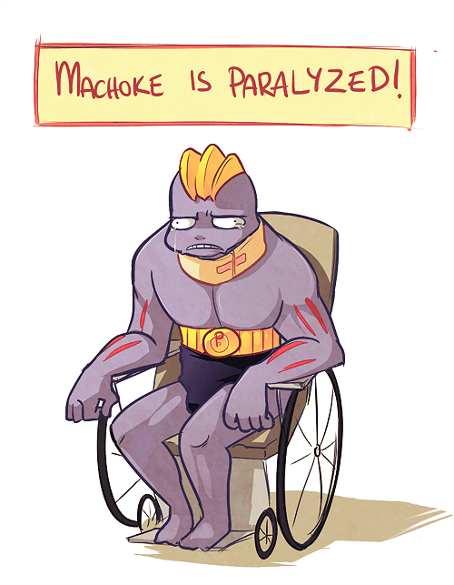 Pokémon machoke paralyzed cruel disable - 7303210496