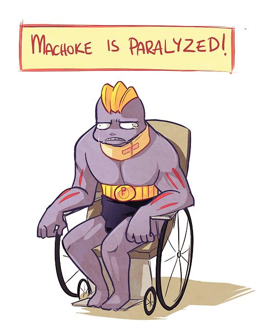Pokémon machoke paralyzed cruel disable - 7303210496