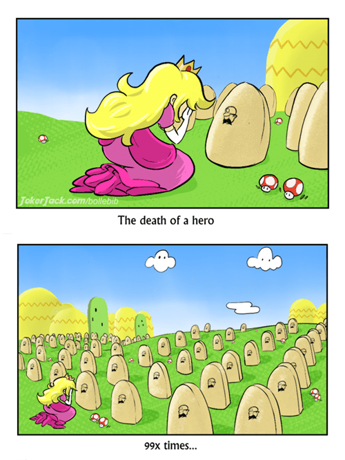 Death comics 1up mario