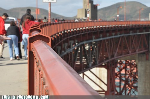 golden gate bridge,pointing,not polite