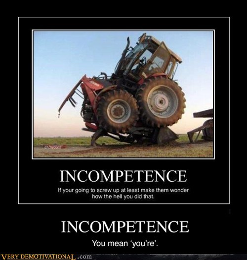 tractor wrecked incompetence - 7305224192