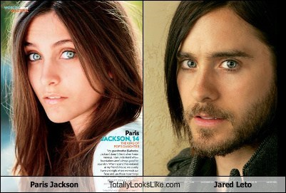paris jackson,totally looks like,jared leto