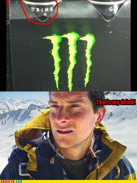 bear grylls,pee,monster,gross