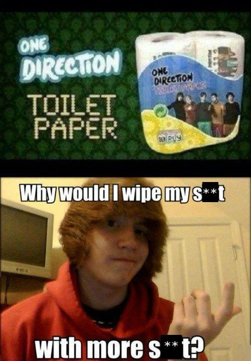 one direction,wiping,toilet paper