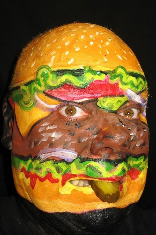 wtf,burgers,face paint