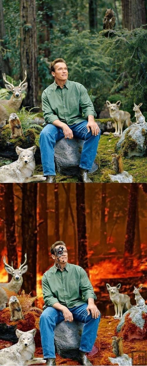 terminator,photoshop,Arnold Schwarzenegger