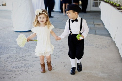 ring bearers flower girls children