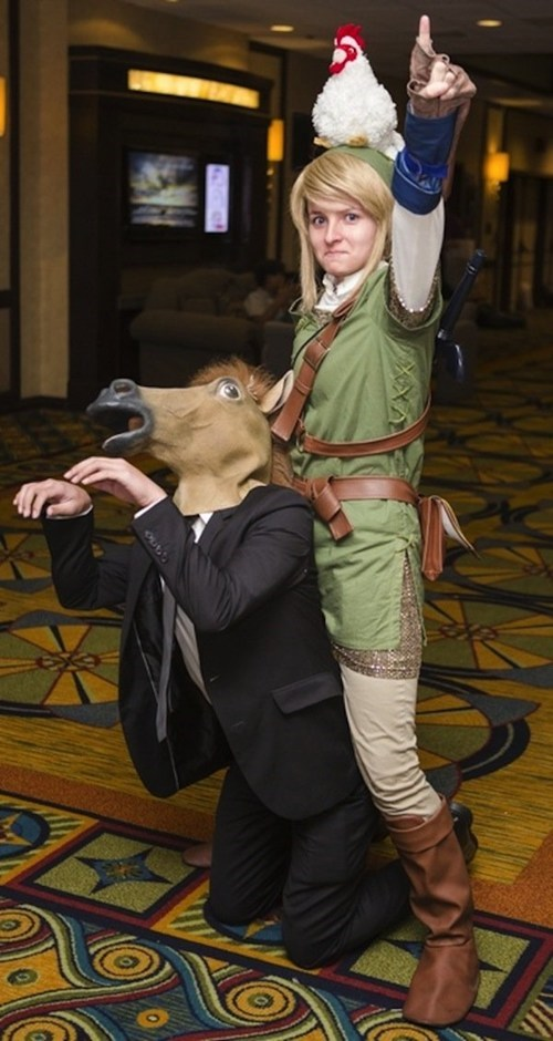 Confusing Link and Epona Cosplay