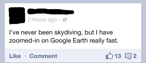 skydiving,google earth