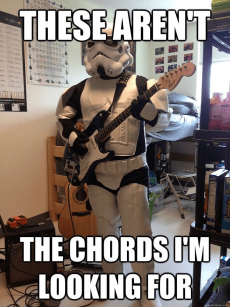 guitar,star wars,puns
