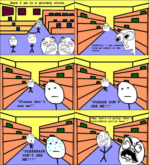 Awkward,socially awkward,grocery store