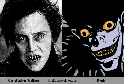 monster,totally looks like,christopher walken,ryuk