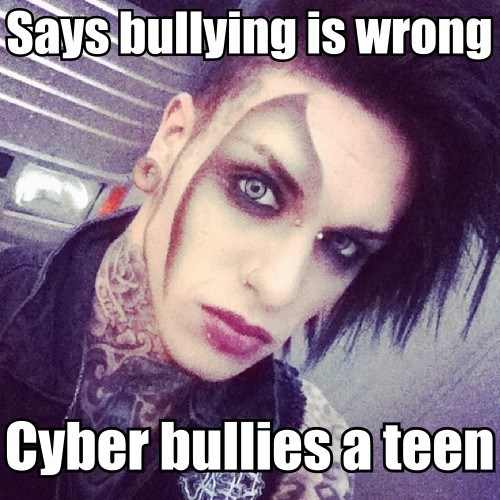 blood on the dance floor,hypocrites,cyber bullying