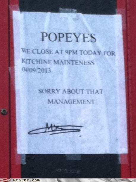 signs,misspellings,Popeyes