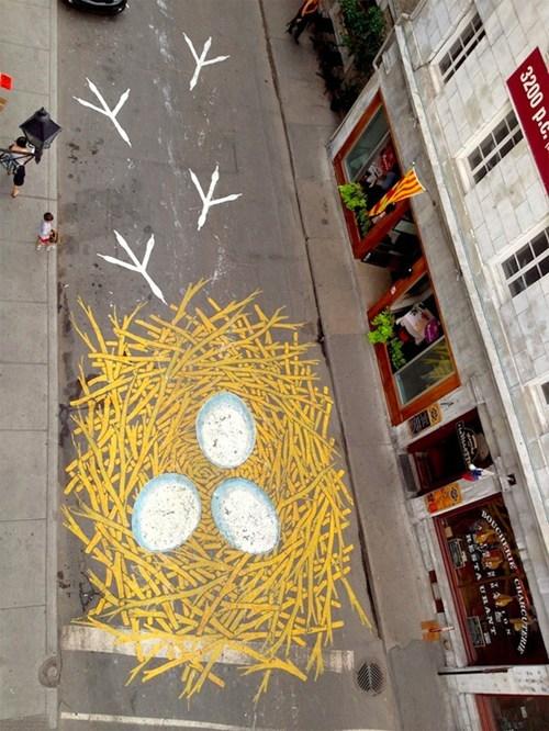 chicken graffiti Street Art hacked irl - 7312247040
