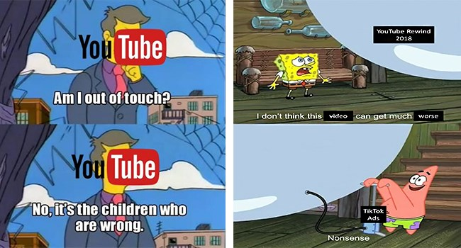 YouTube Rewind youtube funny memes youtube rewind 2018 Memes tweets funny tweets rewind 2018 - 7313669