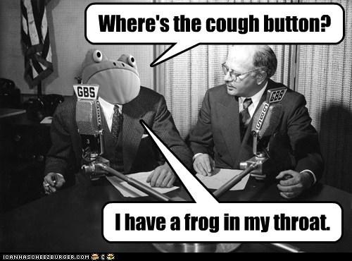 Where's the cough button?