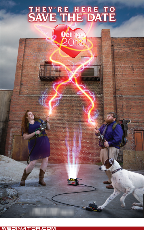 dogs save the date Ghostbusters - 7315115776