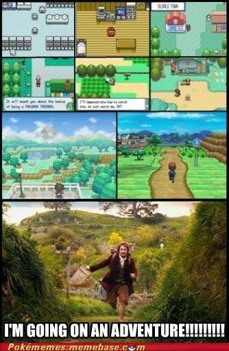 Pokémon,gameplay,The Hobbit,Memes
