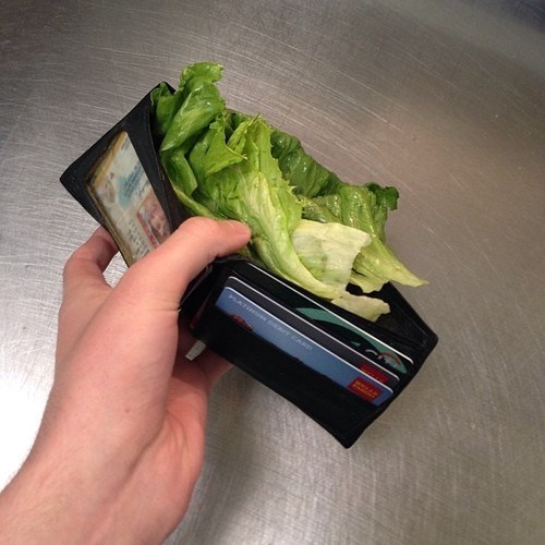 wtf lettuce wallets food money