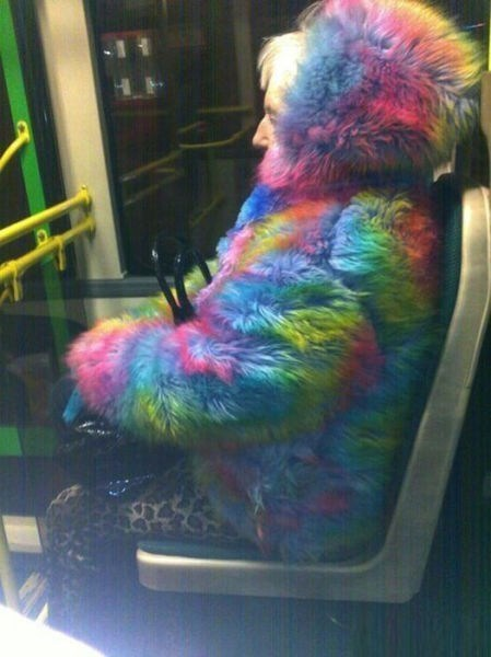 rainbows,public transportation,coats