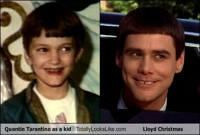 Dumb and Dumber lloyd christmas jim carey totally looks like quentin tarantino