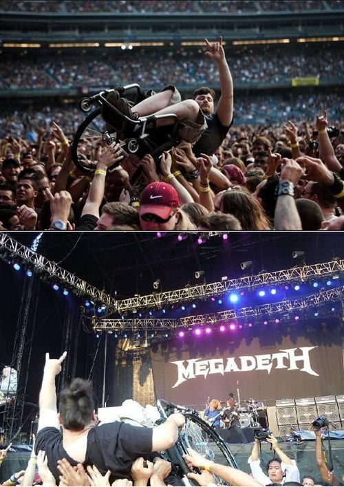megadeth,crowd surfing,wheelchairs