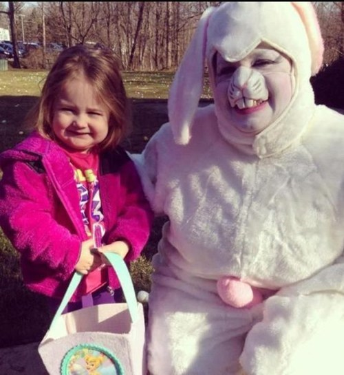 easter bunnies,creepy,looks like a wang