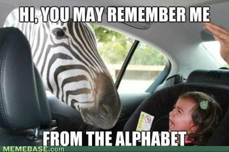 alphabet,nightmare fuel,zebras