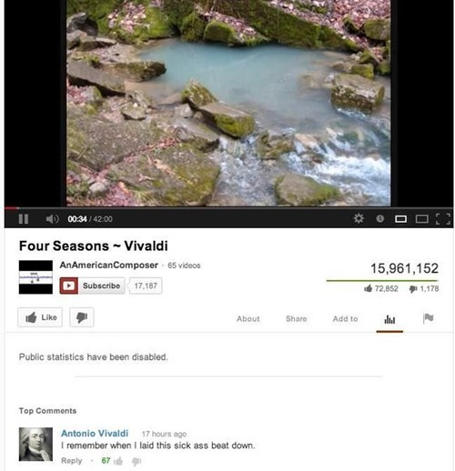 antonio vivaldi youtube comments the four seasons drop the bass - 7316244736